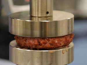 Beyond Meat burger being formed